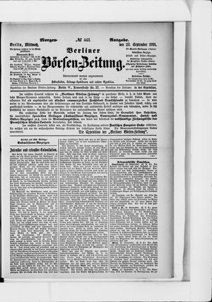 Berliner Börsen-Zeitung vom 23.09.1891