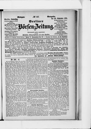 Berliner Börsen-Zeitung vom 24.09.1891