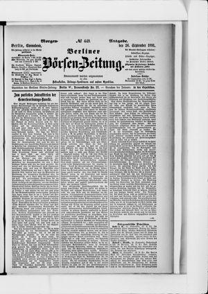 Berliner Börsen-Zeitung vom 26.09.1891