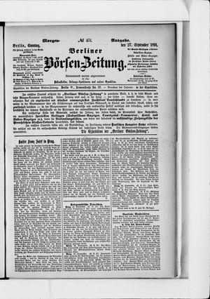 Berliner Börsen-Zeitung vom 27.09.1891