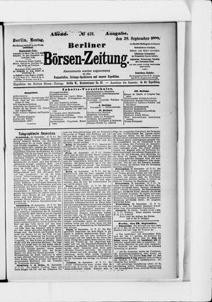 Berliner Börsen-Zeitung vom 28.09.1891
