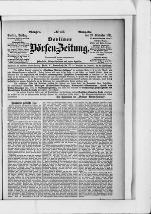 Berliner Börsen-Zeitung vom 29.09.1891