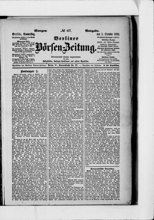 Berliner Börsen-Zeitung vom 01.10.1891
