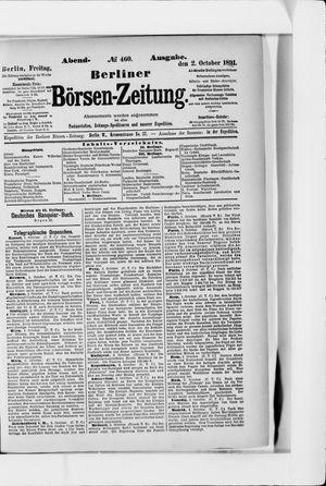 Berliner Börsen-Zeitung vom 02.10.1891