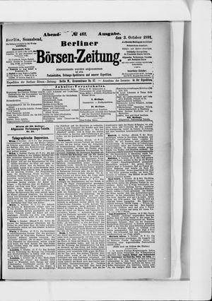 Berliner Börsen-Zeitung vom 03.10.1891
