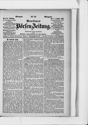 Berliner Börsen-Zeitung vom 04.10.1891