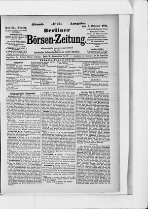 Berliner Börsen-Zeitung vom 05.10.1891