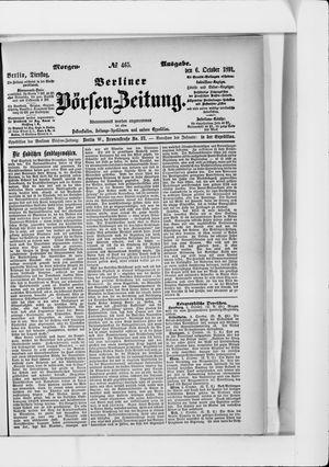 Berliner Börsen-Zeitung vom 06.10.1891