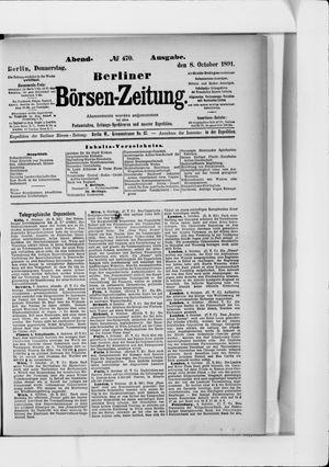Berliner Börsen-Zeitung vom 08.10.1891