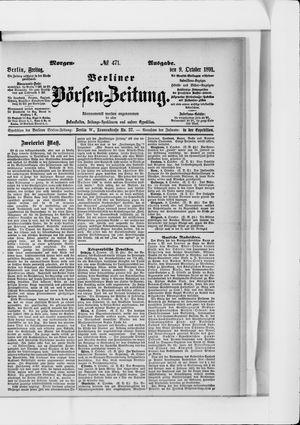 Berliner Börsen-Zeitung vom 09.10.1891