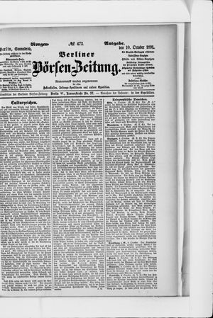 Berliner Börsen-Zeitung vom 10.10.1891