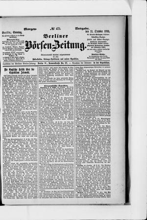 Berliner Börsen-Zeitung vom 11.10.1891