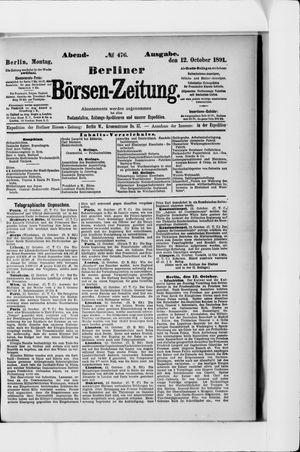 Berliner Börsen-Zeitung vom 12.10.1891