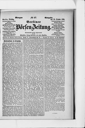 Berliner Börsen-Zeitung vom 13.10.1891