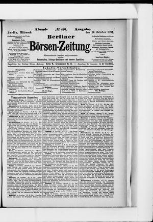 Berliner Börsen-Zeitung vom 14.10.1891