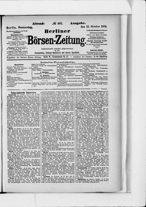 Berliner Börsen-Zeitung vom 15.10.1891
