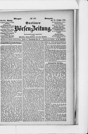 Berliner Börsen-Zeitung vom 18.10.1891
