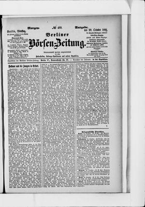 Berliner Börsen-Zeitung vom 20.10.1891