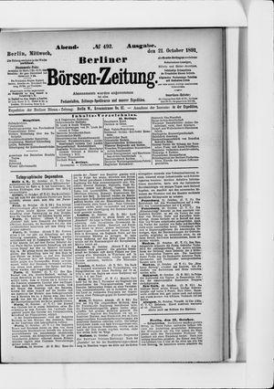 Berliner Börsen-Zeitung vom 21.10.1891