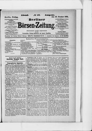Berliner Börsen-Zeitung vom 23.10.1891