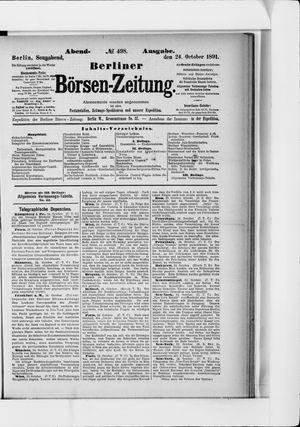 Berliner Börsen-Zeitung on Oct 24, 1891