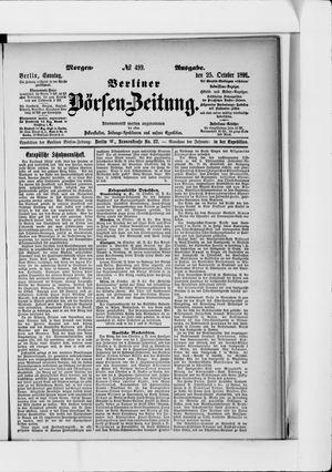 Berliner Börsen-Zeitung vom 25.10.1891