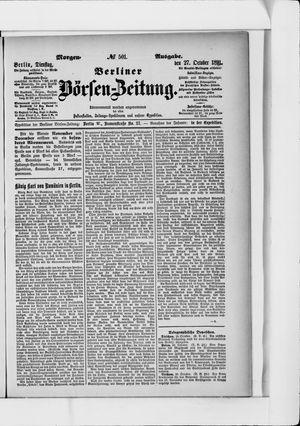 Berliner Börsen-Zeitung vom 27.10.1891