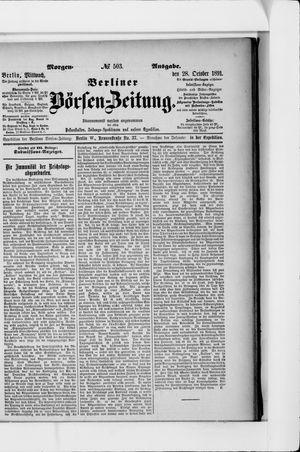 Berliner Börsen-Zeitung vom 28.10.1891