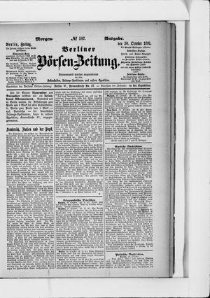 Berliner Börsen-Zeitung vom 30.10.1891