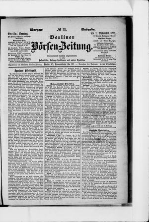 Berliner Börsen-Zeitung vom 01.11.1891