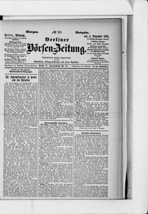 Berliner Börsen-Zeitung on Nov 4, 1891