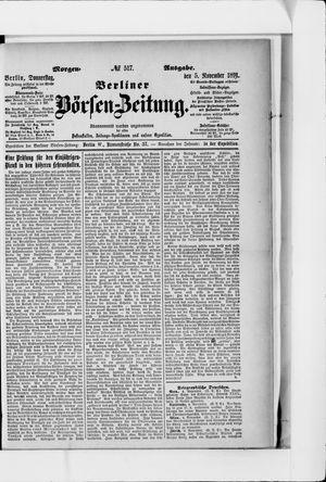 Berliner Börsen-Zeitung vom 05.11.1891