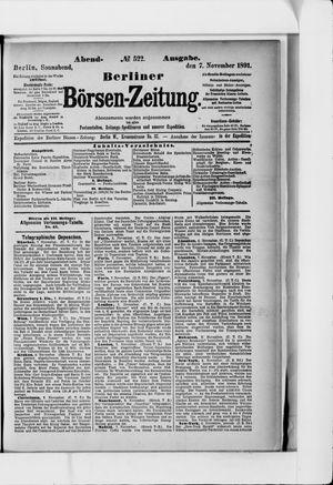 Berliner Börsen-Zeitung vom 07.11.1891
