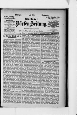 Berliner Börsen-Zeitung vom 10.11.1891
