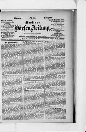 Berliner Börsen-Zeitung vom 15.11.1891