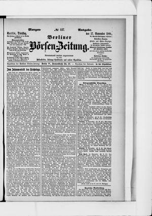 Berliner Börsen-Zeitung vom 17.11.1891