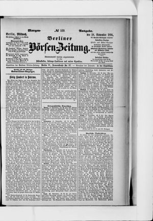 Berliner Börsen-Zeitung vom 18.11.1891