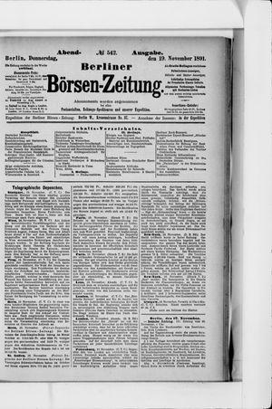 Berliner Börsen-Zeitung on Nov 19, 1891