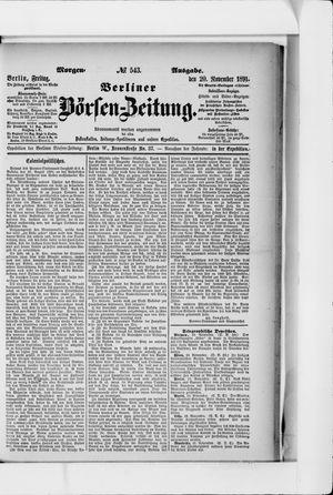 Berliner Börsen-Zeitung vom 20.11.1891