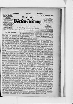 Berliner Börsen-Zeitung vom 24.11.1891
