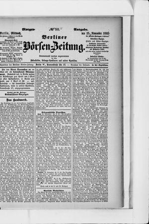 Berliner Börsen-Zeitung vom 25.11.1891