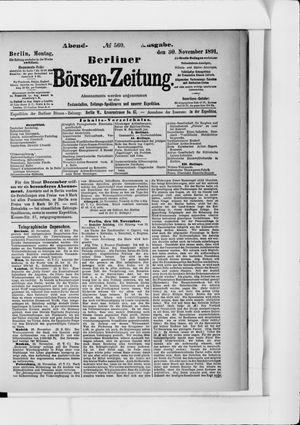 Berliner Börsen-Zeitung vom 30.11.1891