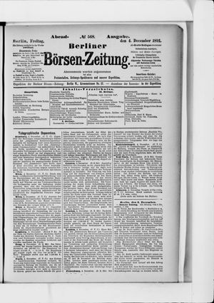 Berliner Börsen-Zeitung vom 04.12.1891