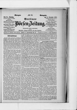 Berliner Börsen-Zeitung vom 06.12.1891