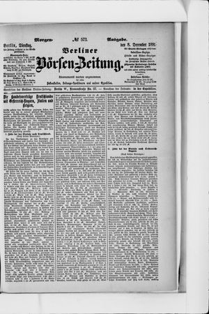 Berliner Börsen-Zeitung vom 08.12.1891