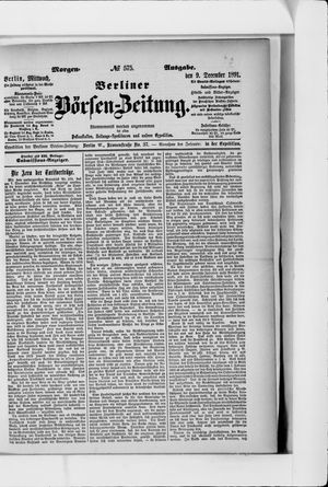Berliner Börsen-Zeitung vom 09.12.1891