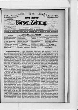 Berliner Börsen-Zeitung vom 10.12.1891