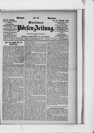 Berliner Börsen-Zeitung vom 11.12.1891