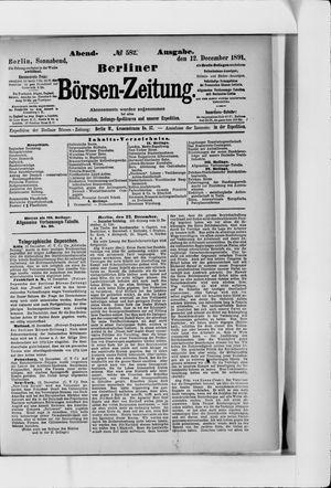 Berliner Börsen-Zeitung vom 12.12.1891