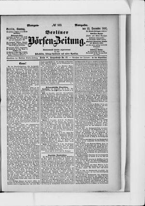Berliner Börsen-Zeitung vom 13.12.1891